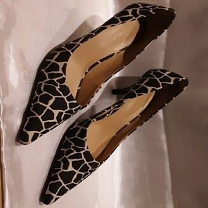 "Nine West Animal Print 3"" Heels size 8.5"